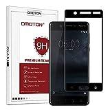 OMOTON Nokia 5 Verre Trempé [Couverture Complète] [9H Sans Bulles] Film Protection- Protecteur Ecran (5.2 Pouces) Noir