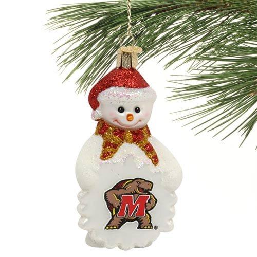 Old World Christmas NCAA Glas Schneemann Ornament NCAA Maryland Terrapins -