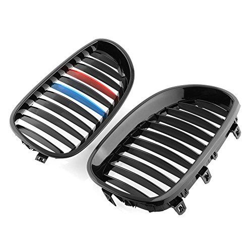 1 paio di griglie anteriori per BMW E60, E61 M5 2003-2009 serie 5, 4 porte, colorate