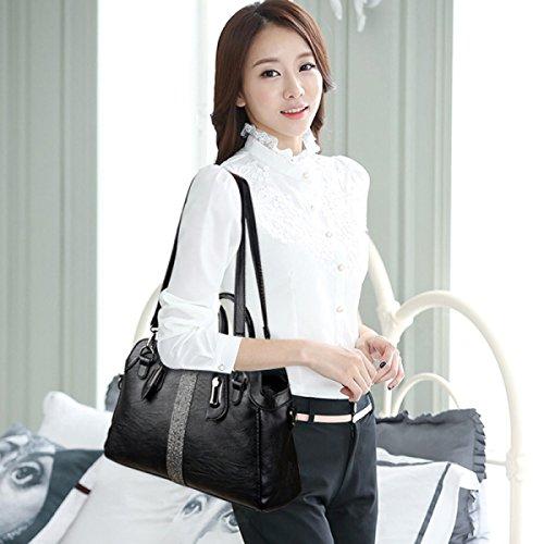 Le Nuove Borse Oblique Portatili Borsa A Tracolla Delle Donne Coreane Di Modo Coreano Black