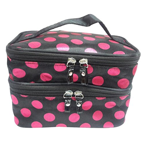 Ouneed Women Double Layer Storage Bag Travel Toiletry Cosmetic Makeup Bag