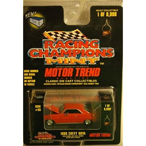 RACING CHAMPIONS MINT 1 OF 9,998 MOTOR TREND ISSUE #185 RED 1966 CHEVY NOVA DIE-CAST by RACING CHAMPIONS