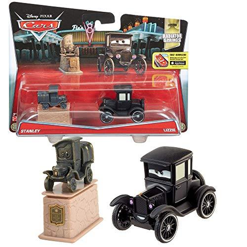 Disney Cars Cast 1:55 - Auto Fahrzeuge Doppelpack zur Auswahl, Typ:Stanley & Lizzie