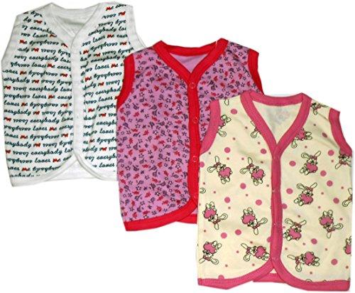 Bubbles Premium Sleeveless Tees Vest-Jhabla - Set Of 3 (0-3 months)
