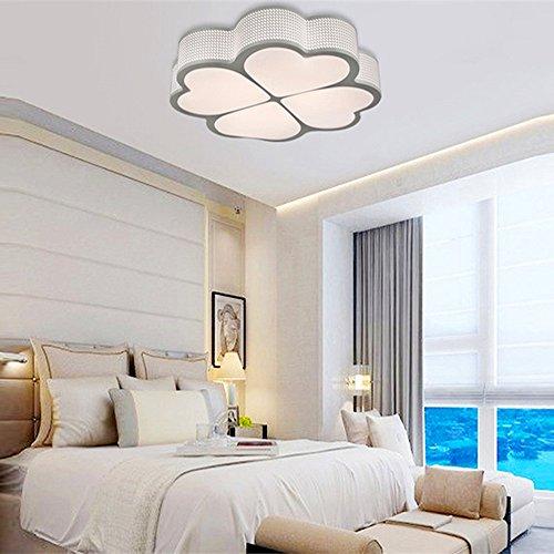 HomeLava Lámpara de Techo con 4 LED Tira de Luz 30 cm para Salón / Dormitorio/ Cocina/ Oficina /Hotel,Blanco