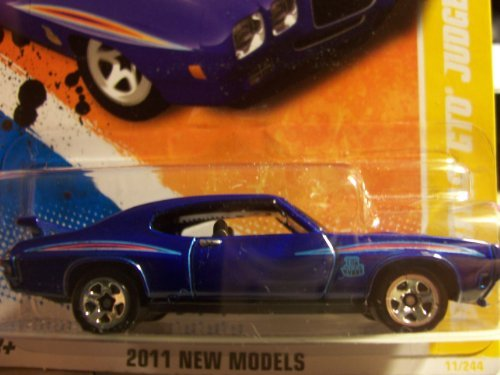 Hot Wheels 2011 '' '70 PONTIAC GTO JUDGE HW PREMIERE '11 -11 of 50 - 11/244 Deep Blue with 'The Judge' Decal on front quarterpanel. Has Spoiler on Trunk Lid by Hot Wheels (Hot Wheels Gto)