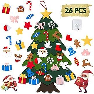 AISHN-DIY-Weihnachtsbaum100cm-Hoch-Filz-Weihnachtsbaum-Set-Edition-27-Pcs-Ornamente-Wand-Dekor-Fr-Kinder-Weihnachten-GeschenkWeihnachtsspiel-Home-Tr-Wand-Dekoration