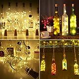 9x 20 LED Flaschen-Licht, Flaschenlichter Weinflasche Flaschenlicht Kork Flaschen Licht LED Lichter Lichterkette Flaschen DIY- Flaschen Lichter für Hochzeit Party Romantische Deko - [ Warm-weiß] - 5
