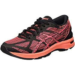 ASICS Gel-DS Trainer 21, Zapatillas de Running para Mujer, Negro (Black/Flash Coral/Silver), 37 EU