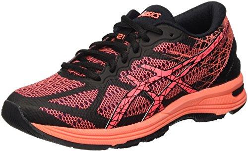 ASICS Gel-DS Trainer 21, Zapatillas de Running para Mujer, Negro (Black/Flash Coral/Silver), 37 EU