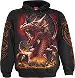 Spiral - Men - AWAKE THE DRAGON - Hoody Black