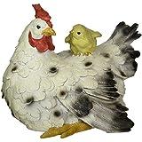 Design Toscano Barnyard Mère poule et bébé Poussin Statue