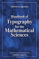 Handbook of Typography for the Mathematical Sciences (Studies in Advanced Mathematics)