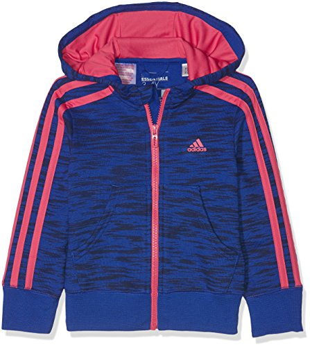 5b8c54a48bd3 Adidas Girls Essentials 3 Stripe Hooded Jacket