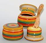 original französische wassergekühlte keramik butterdose, immer frische und streichfähige butter, ca 250gr butter, bunt sun B-G