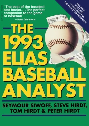 1993 Elias Baseball Analyst First , First edition by Siwoff, Seymour (1993) Paperback