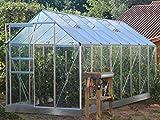 Jardimagine - Serre Verre Trempé 3mm Lams Basilic 10m² avec Base - Alu