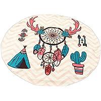 Toalla De Playa Estera De Playa Impresión De Cráneo Impresión De Atrapasueños Manta De Playa Tapiz