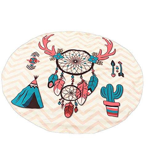 Toalla De Playa Estera De Playa Impresión De Cráneo Impresión De Atrapasueños Manta De Playa Tapiz Estera De Picnic Infantil Almohadilla De Juego