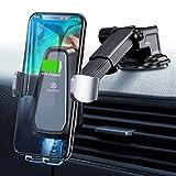 Wireless Charger Auto Handyhalterung Auto Qi Ladestation Auto Kfz Handy Halterung Handyhalter fürs Auto 10W Kfz Induktive Ladestation Induktion Auto Halterung für XS/Max/X/8, S9/S9+/Note 9/S8/S8+ usw.