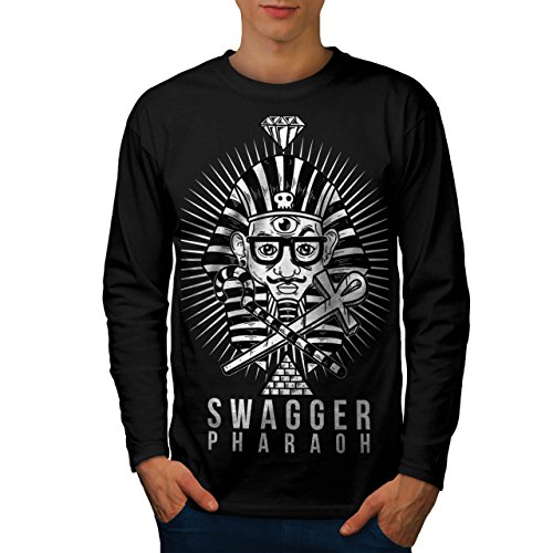 Stolzieren Pharao Mode Herren M Langarm-T-Shirt   Wellcoda (Pharao Kostüm Männlich)