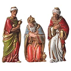 Idea Regalo - ALL SHOP - Re Magi 3 pz Moranduzzo 8 cm Presepe Natale Statuine Presepe