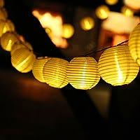 lederTEK 30 Lampade Illuminazione Luci LED Solare con Farol Design in Stile Orientale per il Natale, Party, Matrimonio, Terrazza Interno o Esterno