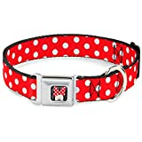 Buckle Down Minnie Mouse Polka Dots Rot/Weiß Schnalle Clip Hundehalsband