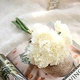Unechte Blumen,Ronamick Unechte Blumen,Künstliche Deko Blumen Gefälschte Blumen Seidenrosen Plastik Köpfe Braut Hochzeitsblumenstrauß Künstliche Blume Gartennelke Blumenstrauß für Haus Garten Pfingstrose Floral künstliche (B)