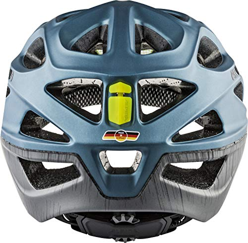 Alpina Mythos 3.0 LE Fahrradhelm, Blue Metallic-Neon, 52-57 cm
