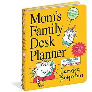 Mom's Family Desk 17-Month 2019 Planner