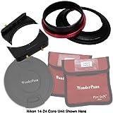 Fotodiox WonderPana 66 FreeArc- Kit de soporte para lentes y filtros para cámara Nikon (con tapa para objetivo, 16,76 cm, 14-24 mm, f/2.8G ED AF-S, ángulo amplio, con zoom)