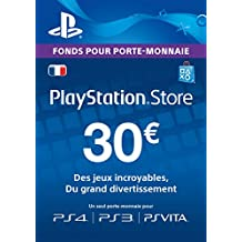 Carte Playstation Network 30 EUR [Code Jeu PSN PS4, PS3, PS Vita - Compte français]