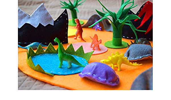 Yaitty Friendly Dinosaurier World Landscape Kids Kleinkind Nickerchen Matte mit Fuzzy Decke Kissen Kinder Schlafsack f/ür Vorschule Kindergarten