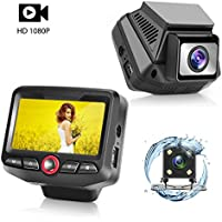 Panlelo D2 Dash Cam WiFi F1.8 Car DVR 1080P 12MP Dashboard Camera 7 layers lenses HD Video Recorder Sony Sensor Vehicle Camcorder 170 Degrees with Car Charger Night Vision WDR G-Sensor Loop Recording