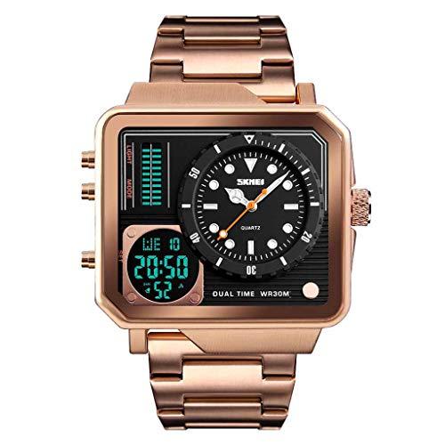 YULINGSTYLE Mode-Uhr Herren wasserdichte Multi-Funktions-Sportuhr Square Fashion Electronic WatchGünstige und billige Uhren