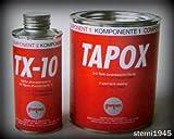 Fertan Tapox Tankversiegelung - Sellador para depósito de 2 componentes (óxido, vehículos, motocicletas, recubrimiento del depósito, revestimiento interior, restauración de depósito)