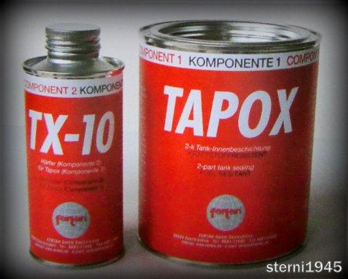 Preisvergleich Produktbild FERTAN TAPOX 2-Komponenten TANKVERSIEGELUNG;TANK;ROST;AUTO;MOTORRAD;Tankbeschichtung,Innenbeschichtung,Tankrestaurierung