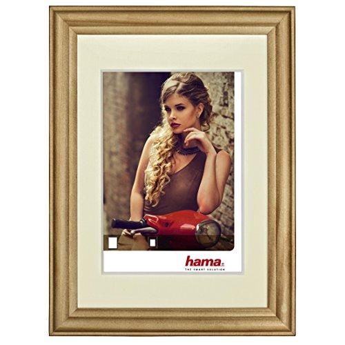 Hama Bellina Brown Single Picture Frame-Picture Frames (Glass, Wood, Brown, Single Picture Frame, 10x 15cm, Reflective, Landscape/Portrait)