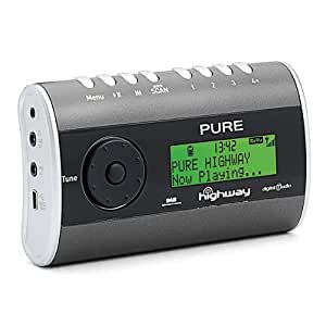pure highway in car dab radio with fm transmitter. Black Bedroom Furniture Sets. Home Design Ideas