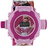 Shanti Enterprises Combo Sports Watch Multi Color Dial For Kids And Barbie 24 Images Projector Watch