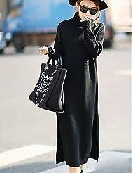 Erica Longue Pullover Femme D¨¦contract¨¦ / Quotidien simple,Couleur Pleine Col Roul¨¦ Manches Longues Acrylique Printemps Automne Moyen