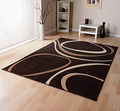 Patina Brown Cream Designer Large Modern Rug - inexpensive UK light shop.
