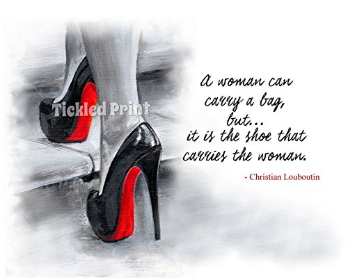 art-print-christian-louboutin-quotation-quote-shoes-black-white-red-on-steps-watercolour-personalise