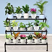 TrustBasket 3 Step Stand for Multiple Plants and Pots Stand, Indoor Shelf Holder Rack, Gardening Stand,Indoor