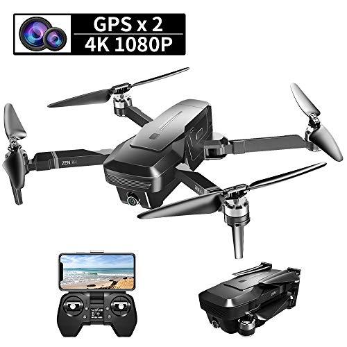 Drohne mit Kamera HD, GPS Drohne mit 1080P 4K Full-HD 5G WiFi FPV Live Übertragung, Positionierung des Optischen Flusses/Follow me/25 Min Flugzeit/120°Weitwinkel Kamera/Kamera 90°Höhenverstellung