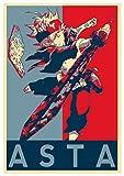 """Poster Black Clover """"Propaganda"""" Asta - Formato A3 (42x30 cm)"""