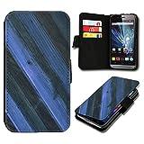 Book Style Wiko Darkmoon Premium PU-Leder Tasche Flip