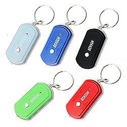 Loose und Germershausen GbR Schlüsselfinder inkl. LED - Taschenlampe - Reagiert auf Pfeifen, rufen oder Schreien - (schwarz)