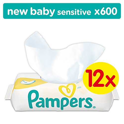 Pampers Sensitive Baby Wipes – Pack of 12 (500 Wipes) 5104u9M5CDL